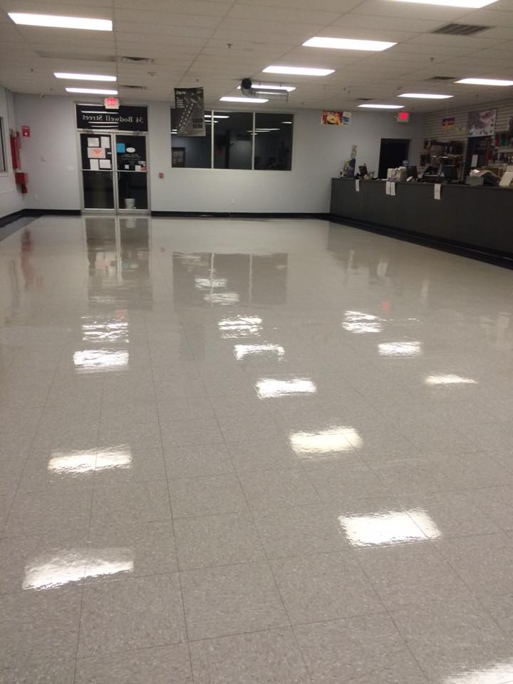 Stripping Waxing Floors E Alves Commercial Cleaning And Post